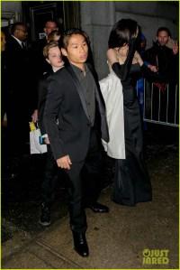 Angelina Jolie & Her Kids Get Dressed Up for Black Tie ...