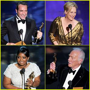 Oscars Winners List 2012!   2012 Oscars : Just Jared