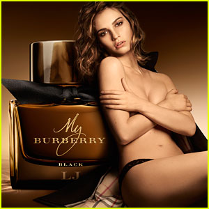 Lily James Goes Topless for Burberry's New Fragrance Campaign!