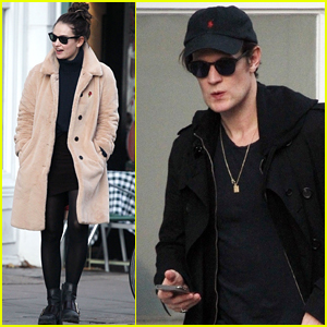 Lily James & Matt Smith Spend the Day Running Errands Together