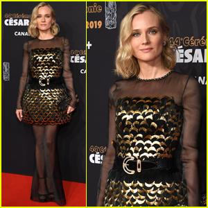 Diane Kruger Honors Karl Lagerfeld at Cesar Film Awards