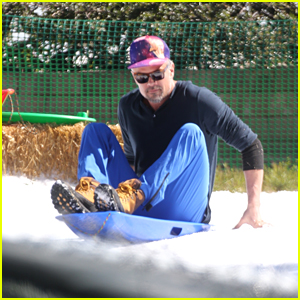 Josh Duhamel Sets Up a Snow Party for His Son in LA!
