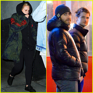 Adele, Jake Gyllenhaal & Tom Sturridge Grab Dinner Together in NYC