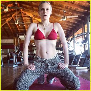 Diane Kruger Bares Toned Abs in Empowering Instagram Post!