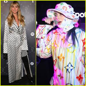 Heidi Klum Attends Billie Eilish's Spotify Pop-Up Experience in LA!