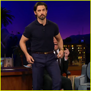 Milo Ventimiglia Gives James Corden A Lap Dance on 'Late Late Show' - Watch Here!