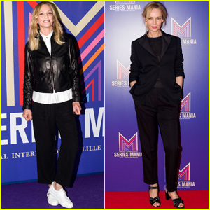 Uma Thurman Gets Chic For Series Mania Festival in France!