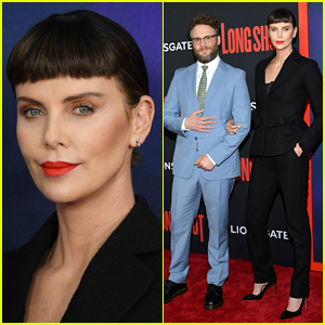 Charlize Theron Debuts New Bangs at 'Long Shot' NYC Premiere