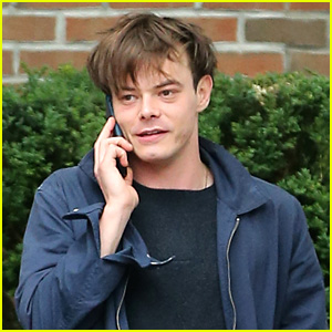 Charlie Heaton Chats On His Phone After Netflix Drops New 'Stranger Things' Pics