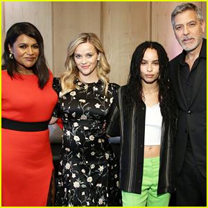 Reese Witherspoon, George Clooney, Mindy Kaling, & Zoe Kravitz Meet Up at Hulu's Presentation!