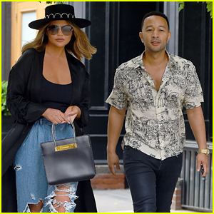 John Legend Dons Skeleton Shirt While Out With Chrissy Teigen