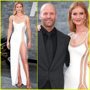 Jason Statham is Supported by Rosie Huntington-Whiteley at 'Hobbs & Shaw' Premiere