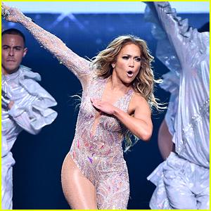 Jennifer Lopez Gives Soccer Star Carli Lloyd a Lap Dance at Hometown Concert!
