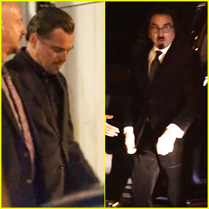 Leonardo DiCaprio Attends Event With His Father George in West Hollywood