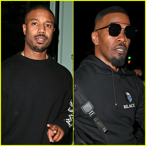 Michael B. Jordan & Jamie Foxx Grab Dinner Together in London