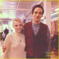 About this photo set ian harding holds onto evanna lynch s fake baby