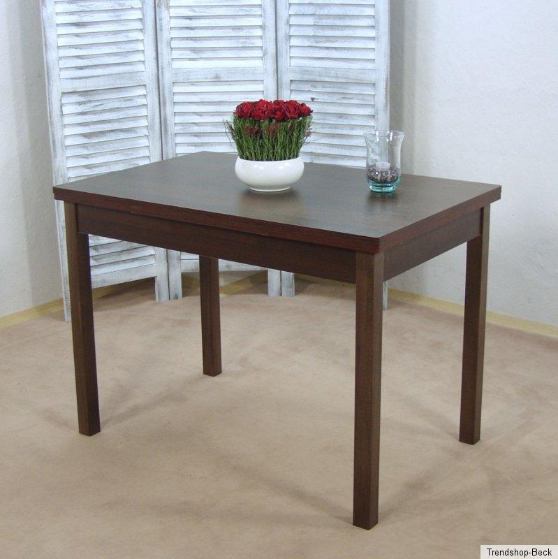 Esszimmertisch Ausziehbar Esstisch Kchentisch Tisch Farbe NussbaumDunkel  eBay
