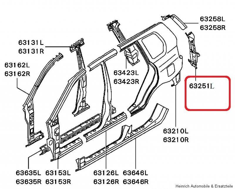 Neu Mitsubishi Space Star DG Kofferraum Reparaturblech