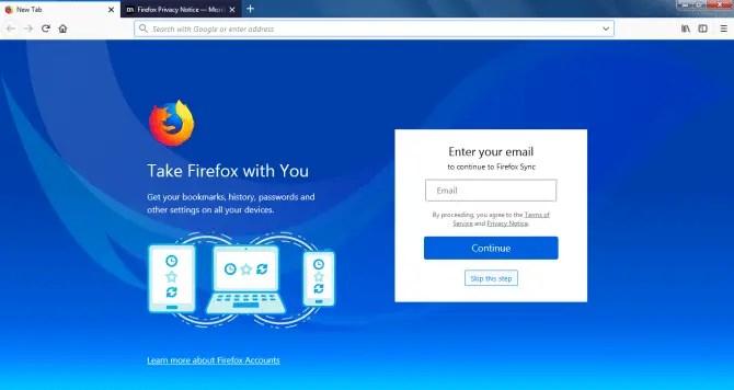 Using Firefox Sync