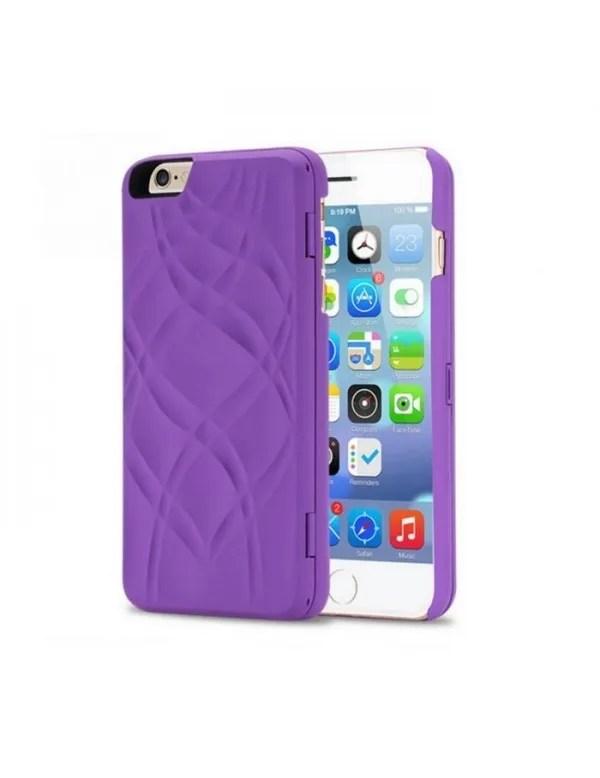 coque iphone 6 6s miroir integre violet
