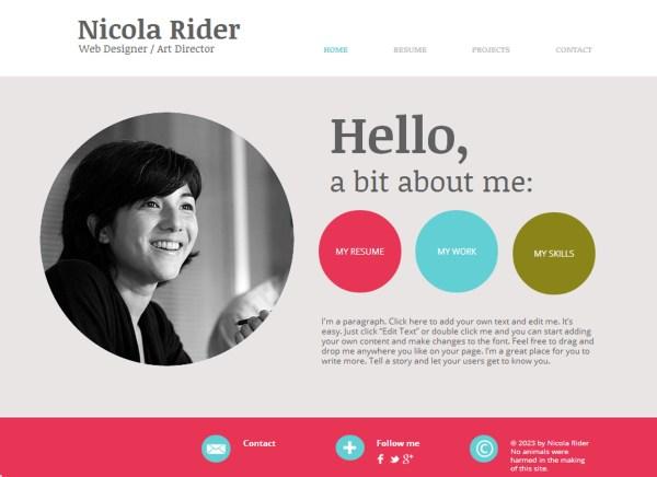 Bio Graphic Design Samples