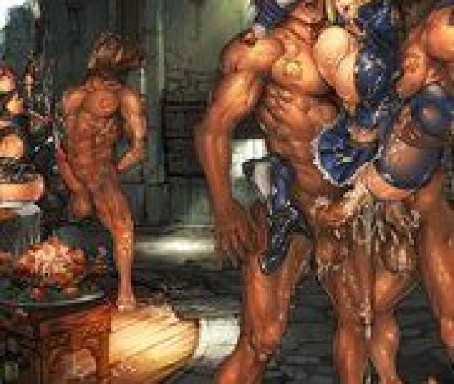 Muscular Monsters Fuck Attractive Hentai Babes