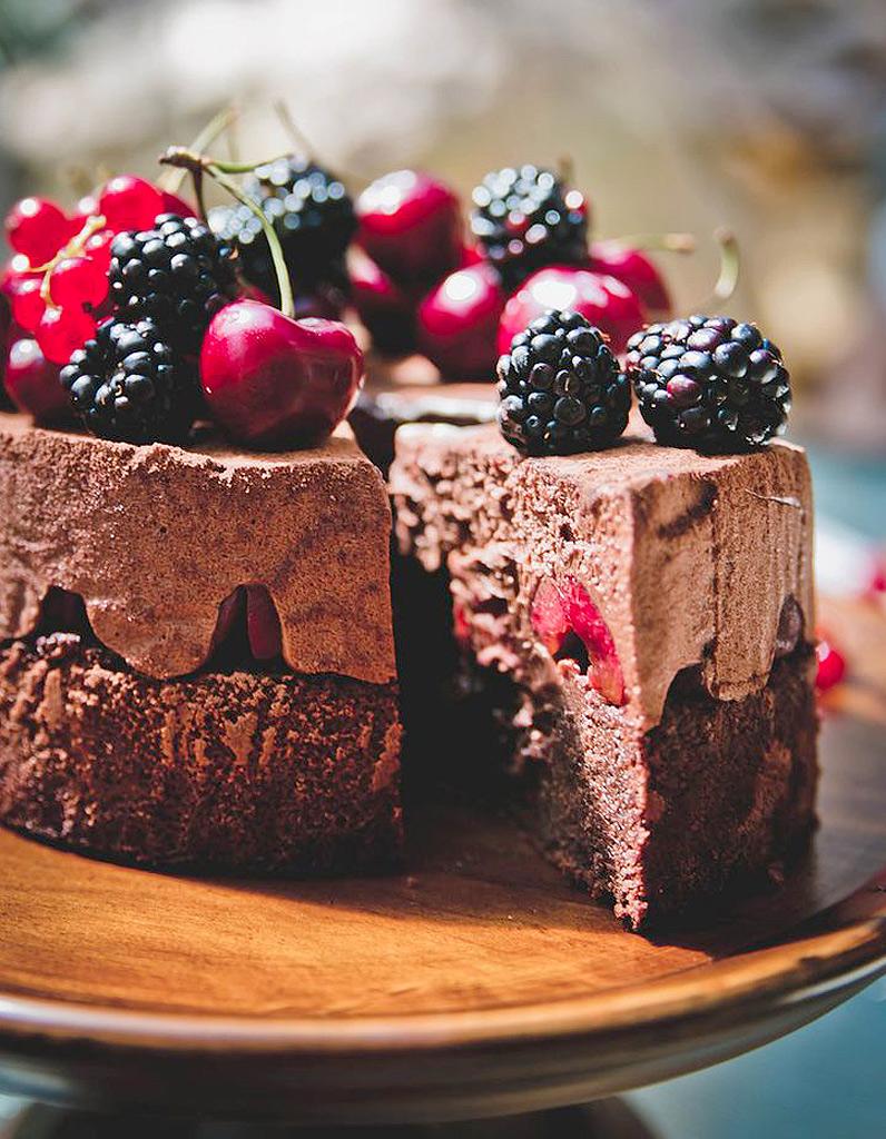 Dessert Au Chocolat Original Fort Noire Aux Fruits