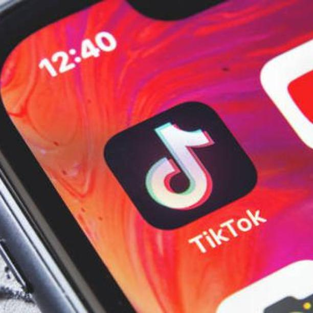 ilustsrasi aplikasi TikTok.
