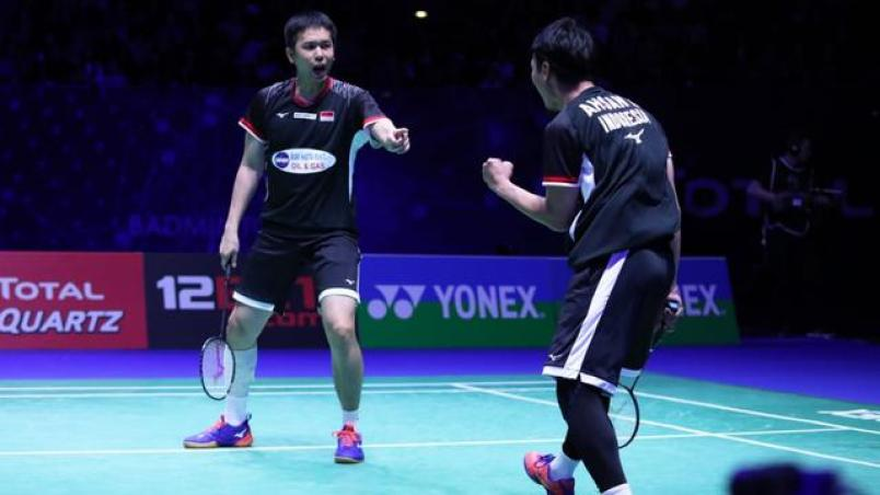 Image result for ahsan hendra all england 2019