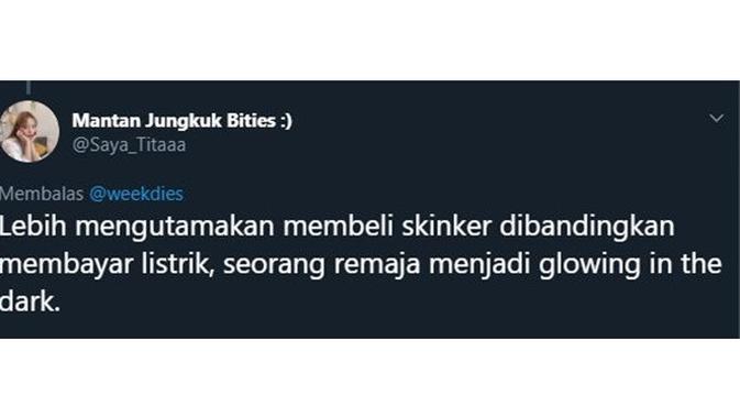 5 Cuitan 'Lebih Mengutamakan Skincare' Ala Netizen Ini Kocak Banget (sumber: twitter.com/sayatitaaa)
