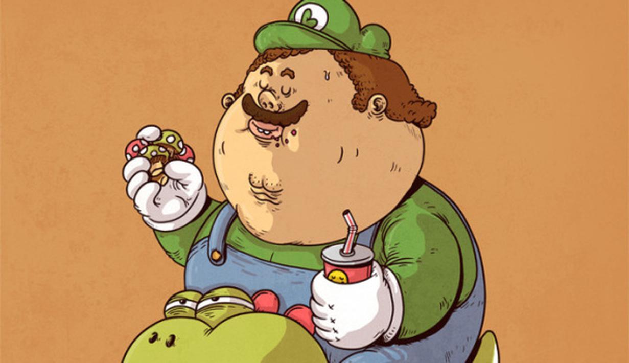 20 gambar kartun lucu orang gemuk  Ktawacom Ayo Ketawa