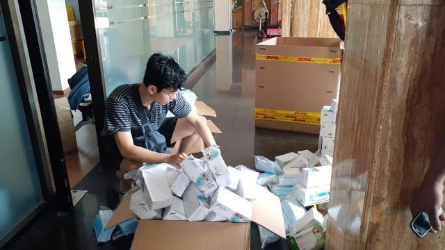 Puluhan ribu masker merek Sensi gagal dikirim ke luar negeri (Fauzan)