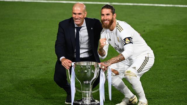Real Madrid Angkat Trofi La Liga, Ini Tinta Emas Zidane Selama Melatih  Ramos Cs - Bola Liputan6.com