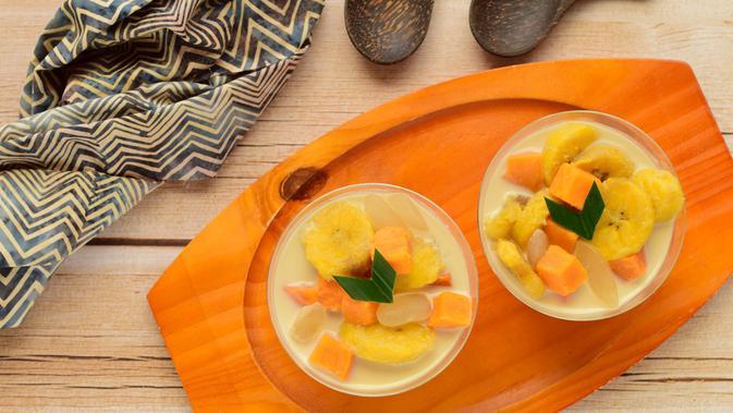 Ilustrasi kolak ubi pisang kolang-kaling./Copyright shutterstock.com