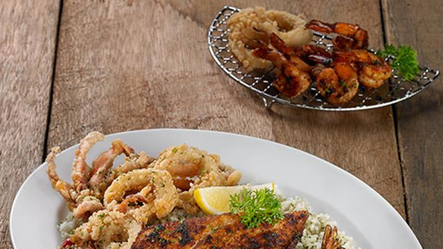 Seafood Trio with Cilantor Butter Rice