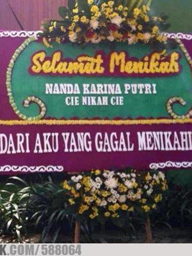 Ucapan Selamat Menikah Lucu : ucapan, selamat, menikah, Tulisan, Selamat, Menikah, Nyeleneh, Banget,, Bikin, Ngakak, Liputan6.com