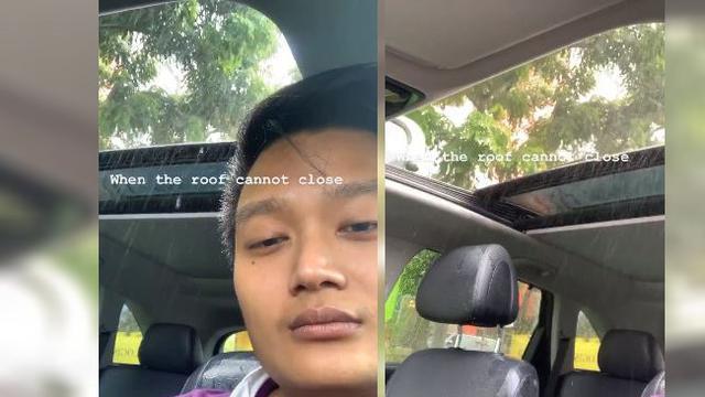 Viral Pria Kehujanan Padahal di Dalam Mobil