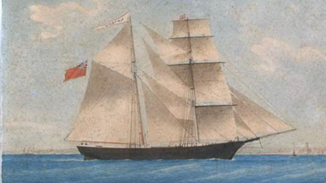 Lukisan kapal Mary Celeste yang menjadi ikon 'kapal hantu'