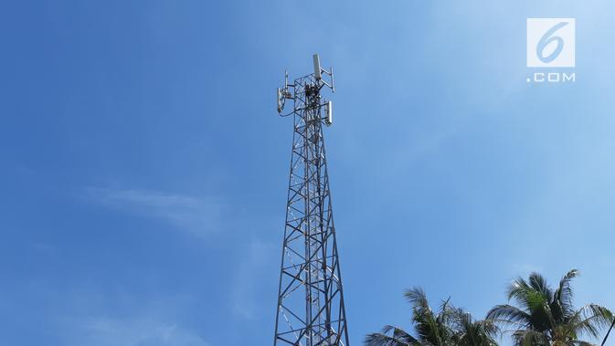 BTS 4G LTE milik XL Axiata di Kota Sumbawa, Nusa Tenggara Barat. (News/ Agustin Setyo W).