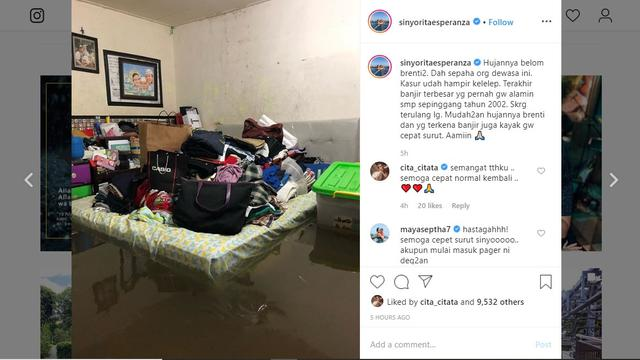 5 Seleb Ini Rumahnya Kebanjiran, Usai Diguyur Hujan Deras