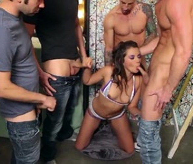 Sweet Allie Haze Gagging Those  Cocks In Here