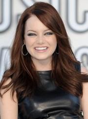 medium layered brunette hairstyles
