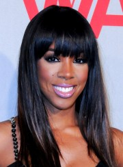black hairstyles with bangs - beauty