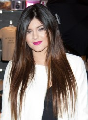 long straight brunette hairstyles