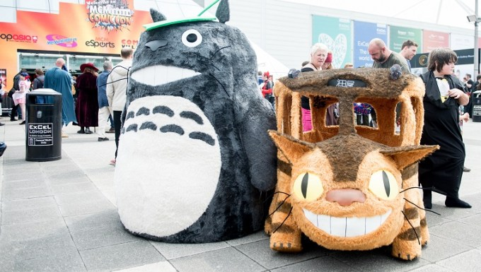 LONDON, ENGLAND - MAY 27: Totoro and The Catbus on Day 2 of MCM London Comic Con at The London ExCel on May 28, 2016 in London, England.