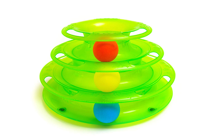 3 Level Rolling Ball Kitty Toy