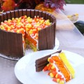 The ultimate halloween cake with everyone s favorite candy make this