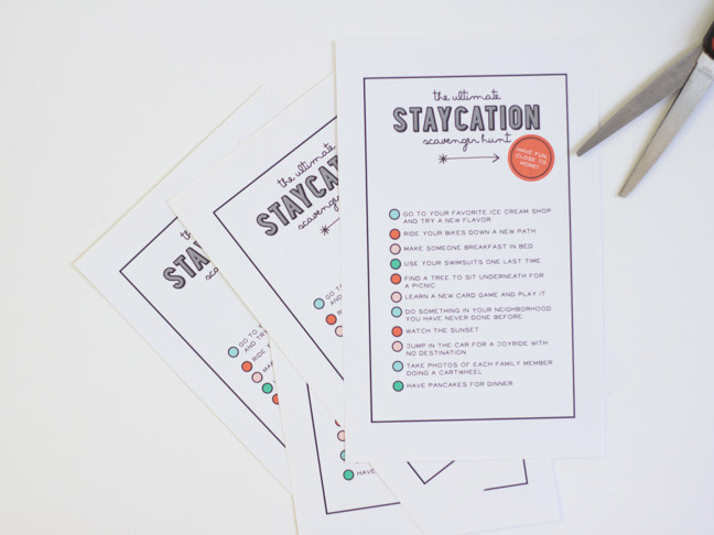 [FREE PRINTABLE] The Staycation Scavenger Hunt