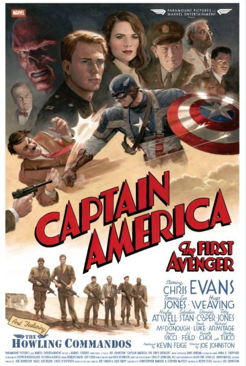 Captain America The First Avenger Retro Poster