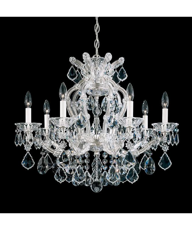 Shown In Silver Leaf Finish And Clear Heritage Handcut Crystal